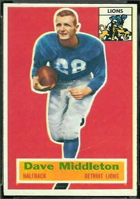 Dave Middleton 1956 Topps football card