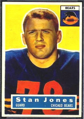 1956 Topps Stan Jones rookie football card