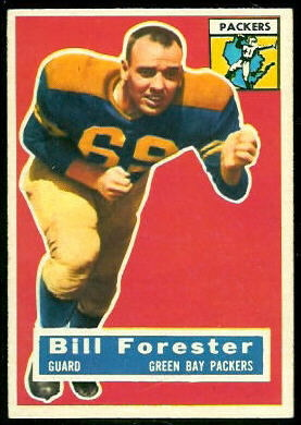 Bill Forester 1956 Topps football card