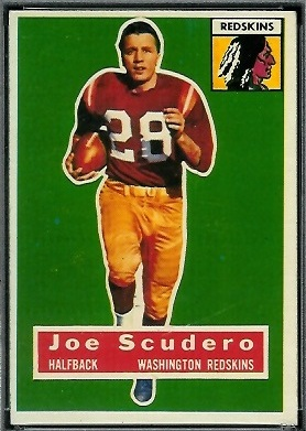 Joe Scudero 1956 Topps football card