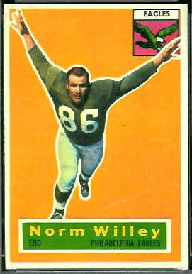 Norm Willey 1956 Topps football card