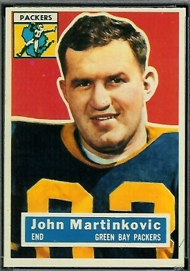 John Martinkovic 1956 Topps football card