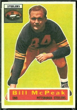 Bill McPeak 1956 Topps football card