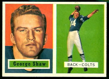 George Shaw 1957 Topps football card