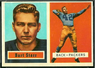 Bart Starr 1957 Topps football card