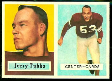 Jerry Tubbs 1957 Topps rookie football card