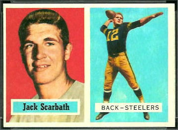 Jack Scarbath 1957 Topps football card
