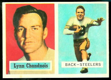 Lynn Chandnois 1957 Topps football card