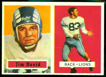 1957 Topps Jim David rookie football card