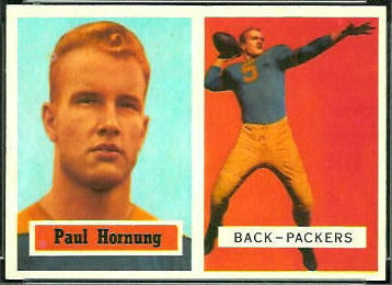 Paul Hornung 1957 Topps football card