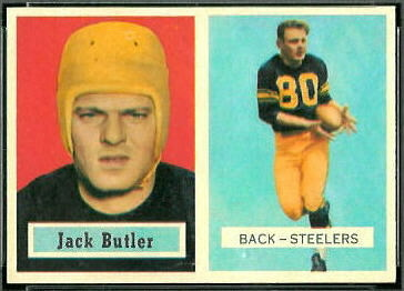 1957 Topps Jack Butler rookie football card
