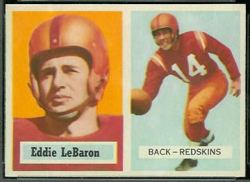 Eddie LeBaron 1957 Topps football card