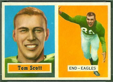 Tom Scott 1957 Topps football card