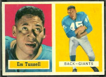 Emlen Tunnell 1957 Topps football card