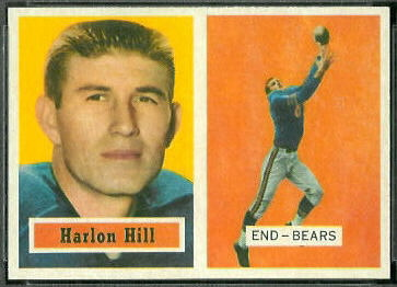 Harlon Hill 1957 Topps football card