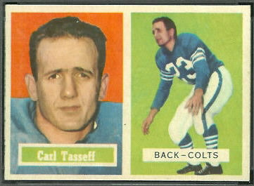 Carl Taseff 1957 Topps football card