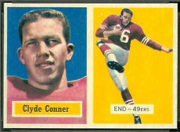 Clyde Conner 1957 Topps rookie football card
