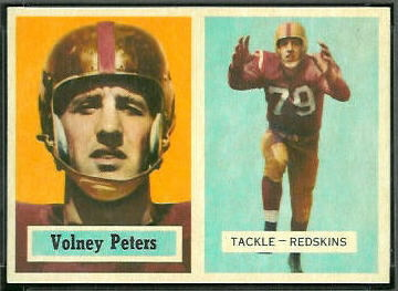 1957 Volney Peters football card