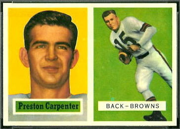 Preston Carpenter 1957 Topps rookie football card