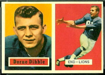 Dorne Dibble 1957 Topps football card