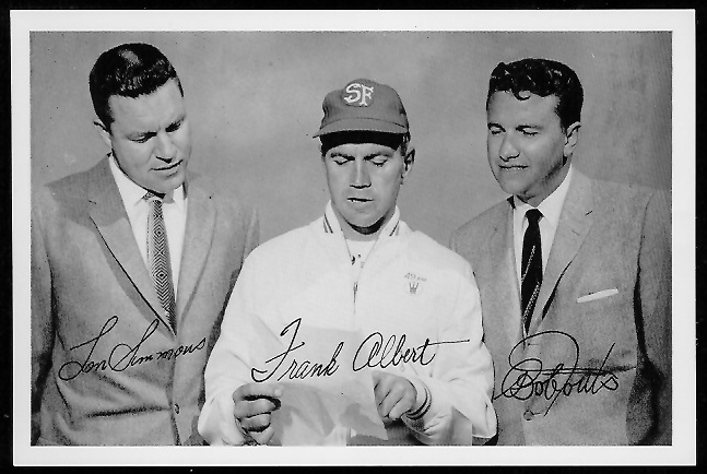 49ers Announcers 1958 49ers Team Issue football card