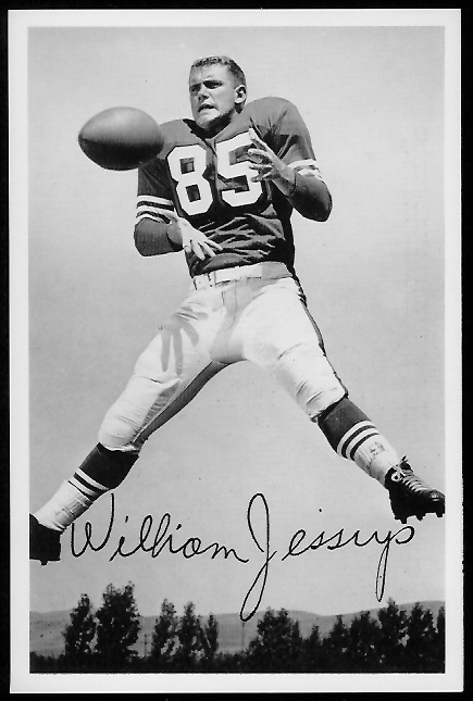 Bill Jessup 1958 49ers Team Issue football card