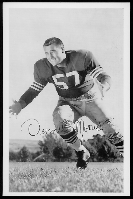 Dennit Morris 1958 49ers Team Issue football card