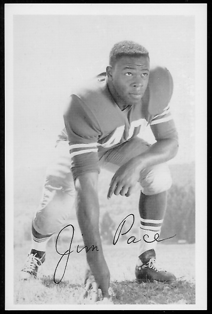 Jim Pace 1958 49ers Team Issue football card