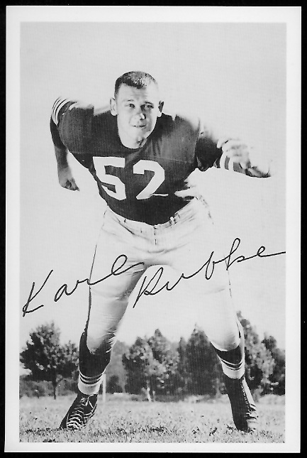 Karl Rubke 1958 49ers Team Issue football card