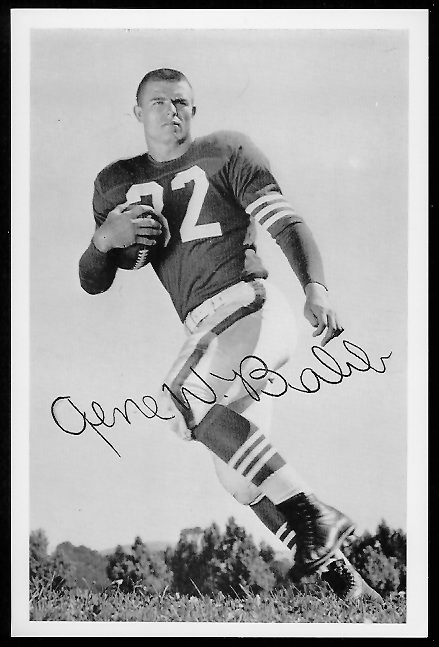 Gene Babb 1958 49ers Team Issue football card