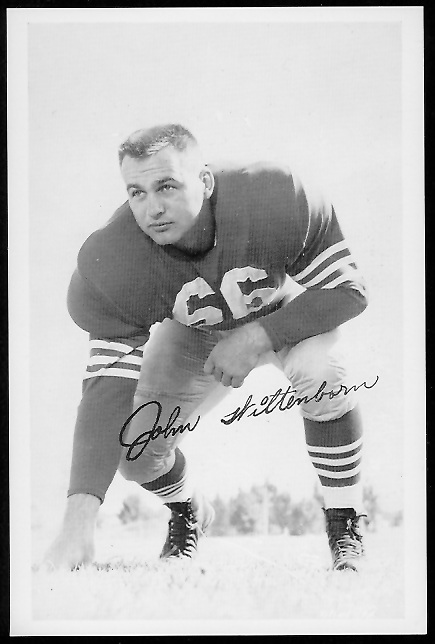 John Wittenborn 1958 49ers Team Issue football card