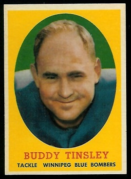 Buddy Tinsley 1958 Topps CFL football card