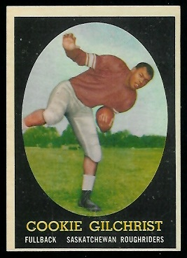 Cookie Gilchrist 1958 Topps CFL football card