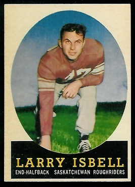 Larry Isbell 1958 Topps CFL football card