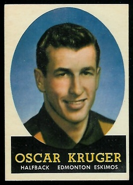 Oscar Kruger 1958 Topps CFL football card