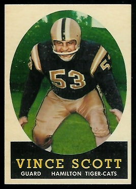 Vince Scott 1958 Topps CFL football card