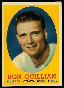 Ron Quillian 1958 Topps CFL football card