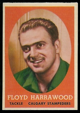 Floyd Harrawood 1958 Topps CFL football card