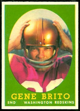 Gene Brito 1958 Topps football card