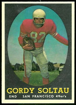 Gordon Soltau 1958 Topps football card
