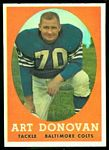 Art Donovan 1958 Topps football card
