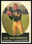 Ted Marchibroda 1958 Topps football card