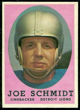 Joe Schmidt 1958 Topps football card
