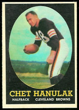 Chet Hanulak 1958 Topps football card