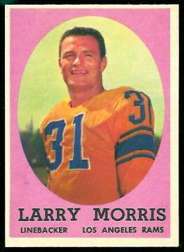 Larry Morris 1958 Topps football card