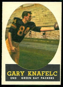 Gary Knafelc 1958 Topps football card