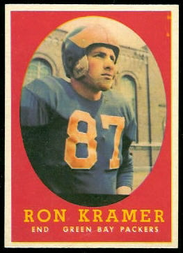 1958 Topps Ron Kramer rookie football card
