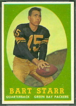 Bart Starr 1958 Topps football card