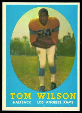 Tom Wilson 1958 Topps football card