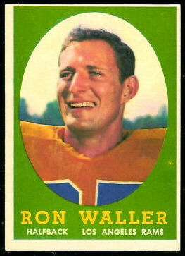 Ron Waller 1958 Topps football card
